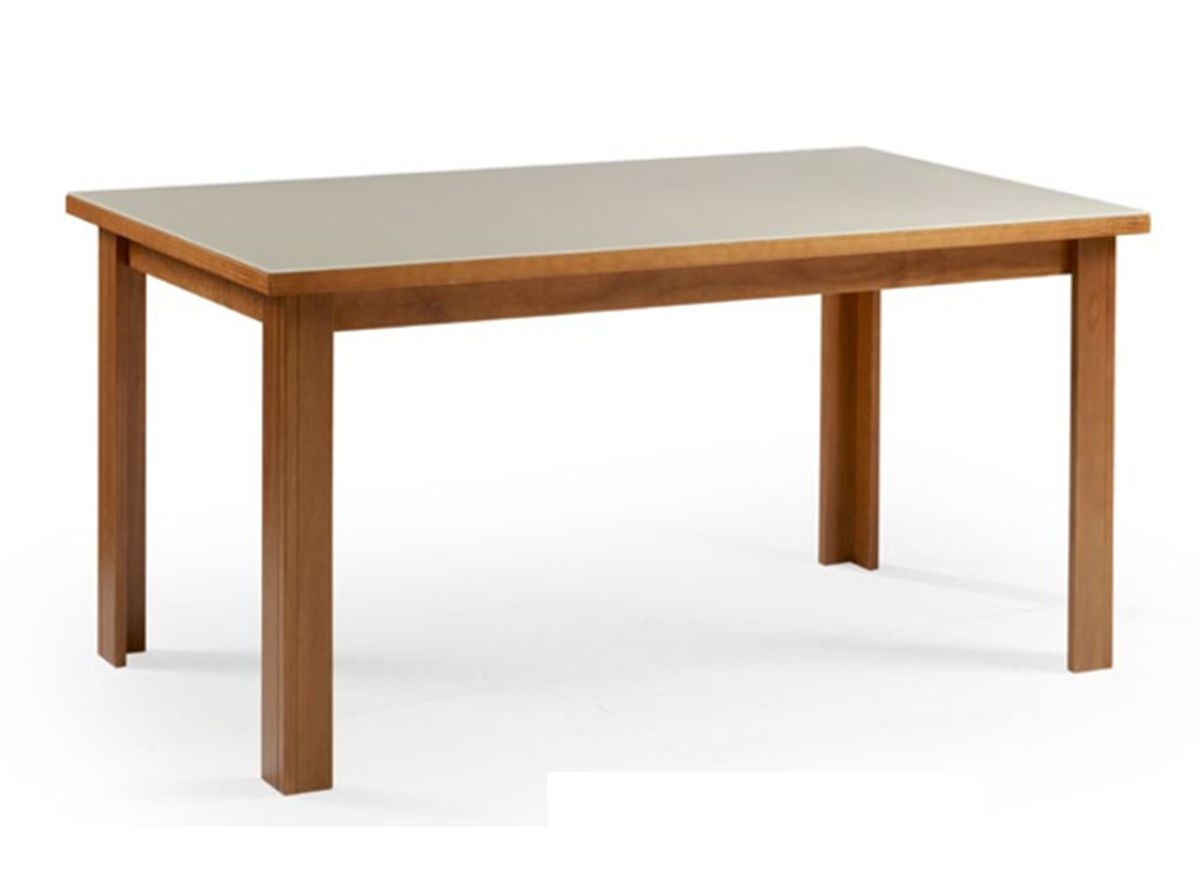 Conjunto Mesa de Jantar Cali (120 cm) Tampo de Vidro com 6 Cadeiras Veneza II