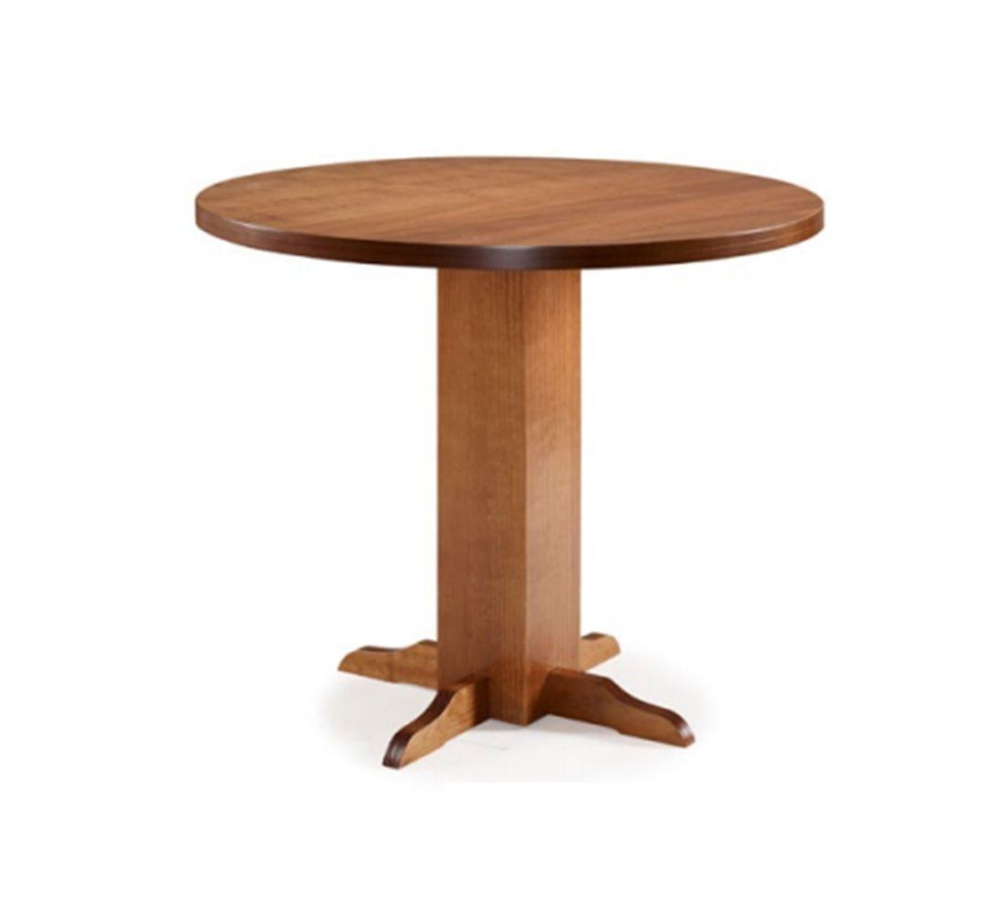 Conjunto Mesa de jantar Cali Redonda (90cm) Tampo de Madeira - 4 Cadeiras Viena