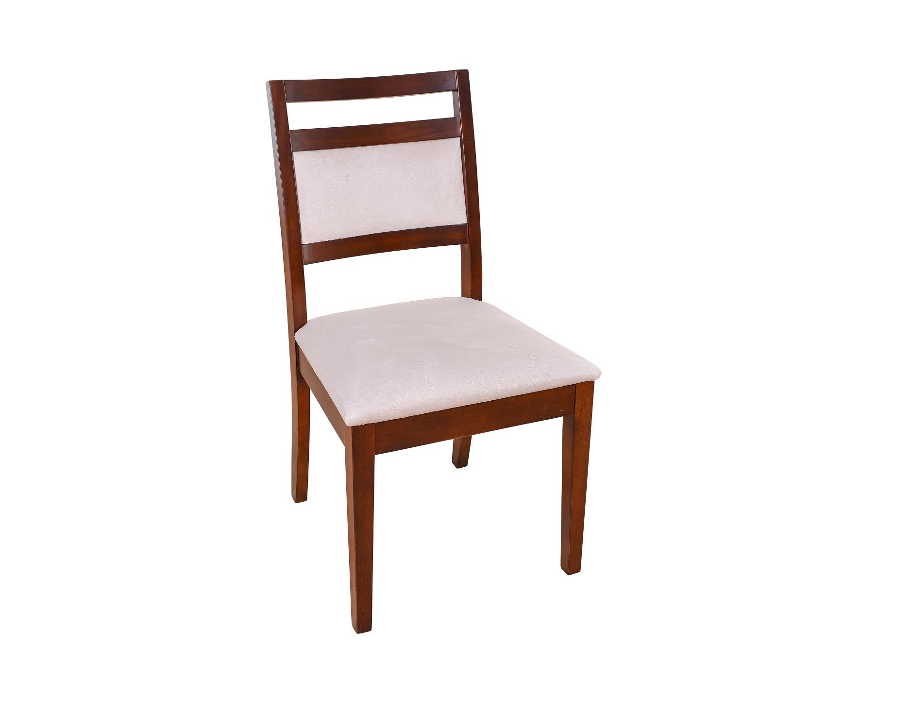 Conjunto Mesa de Jantar Califôrnia (160cm) Tampo de Madeira -  6 Cadeiras Caribe - Castanho
