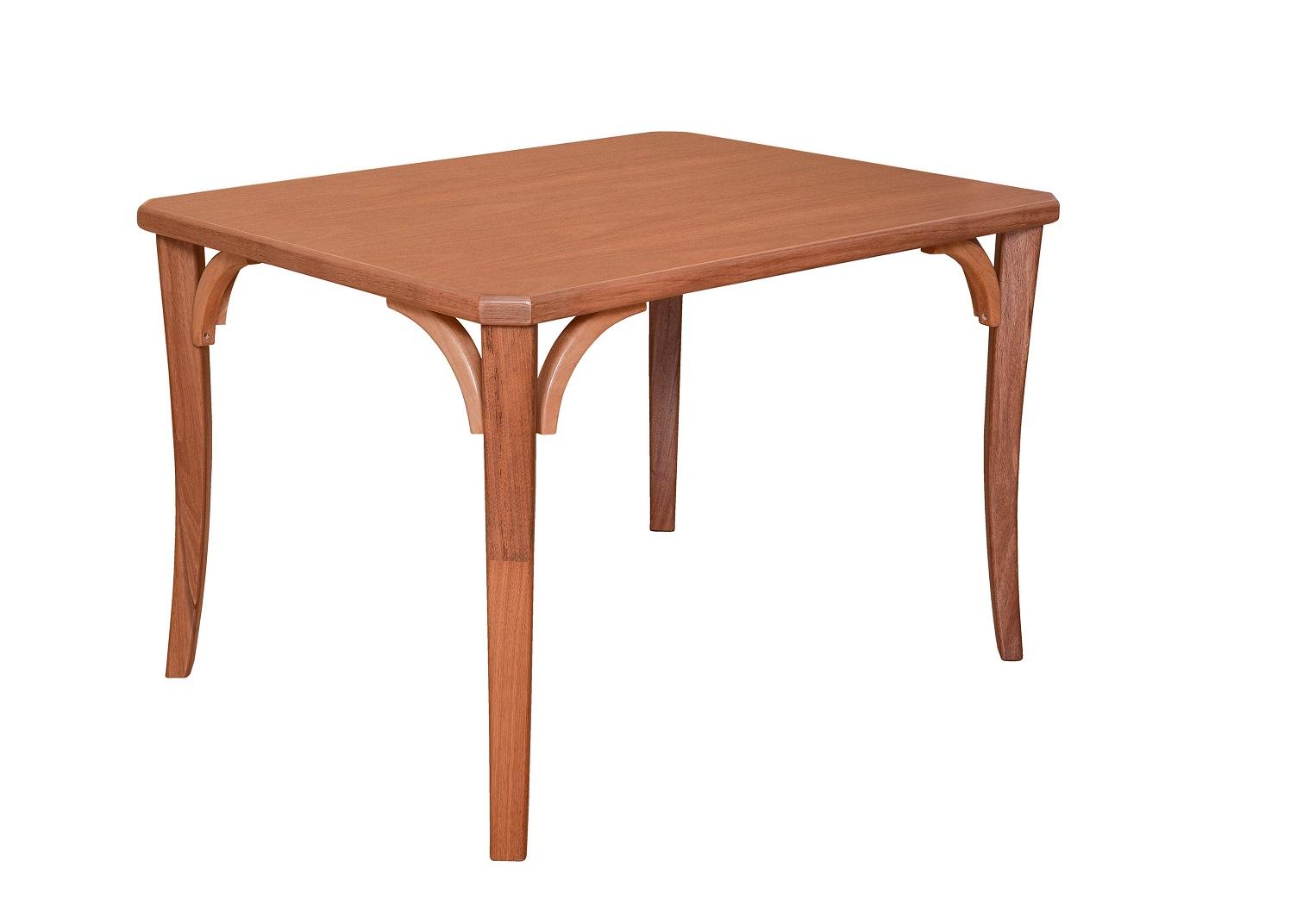 Conjunto Mesa de Jantar Dallas (120cm) Tampo de Madeira - 4 Cadeiras Xangai Colors - Amendôa