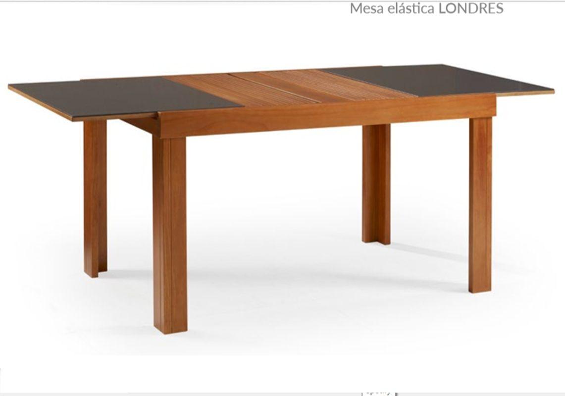 Conjunto Mesa de Jantar Londres Extensível ( 140 - 200cm) Tampo de Vidro com 6 Cadeiras Londres