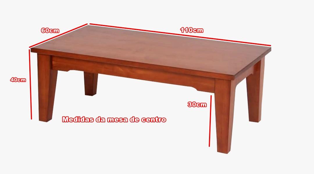 Mesa de Centro - Madeira Maciça - Cor Cherry