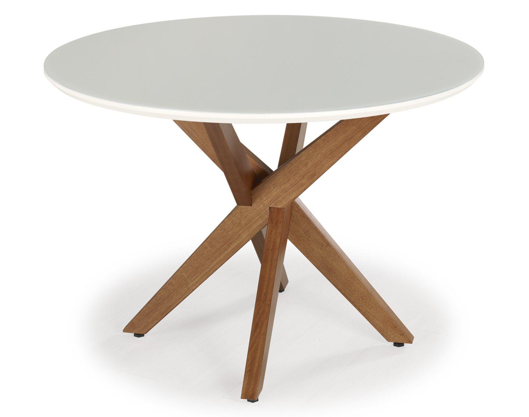 Mesa de Jantar Itália Redonda no Tamanho (140cm) - Euclar
