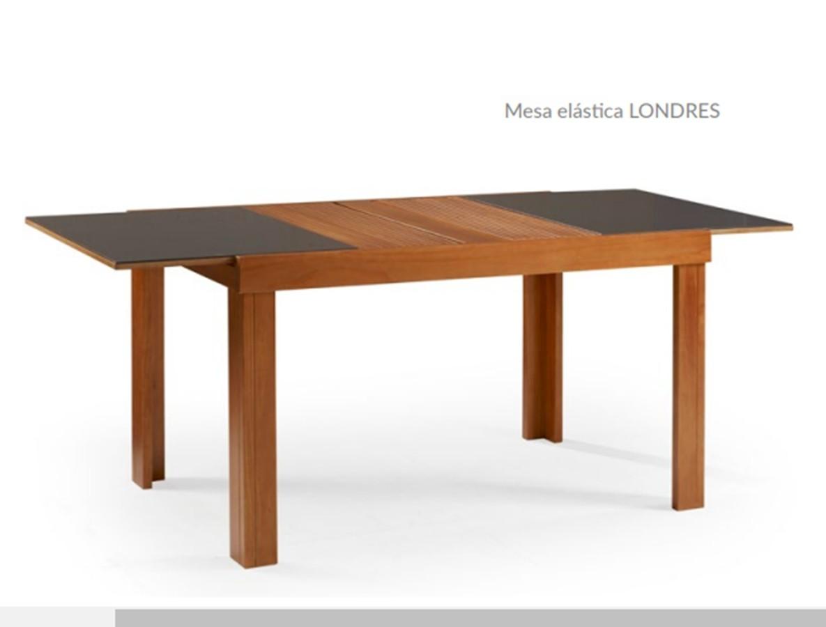 Mesa de Jantar Londres Extensível ( 140 - 200cm) Tampo de Madeira com Vidro - Studium Prime