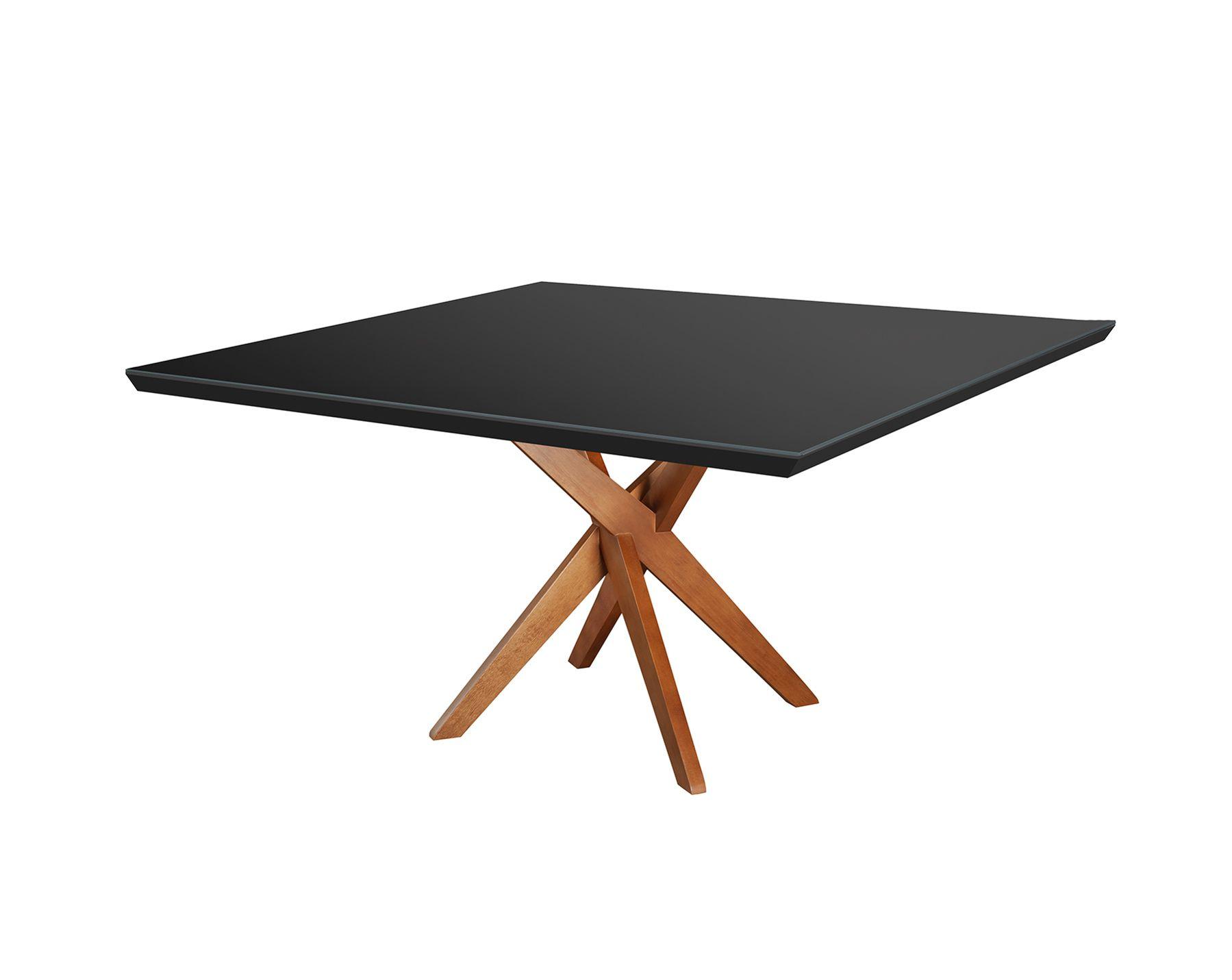 Mesa de Jantar Quadrada X - Tamanho (120 x 120cm ) - Woods