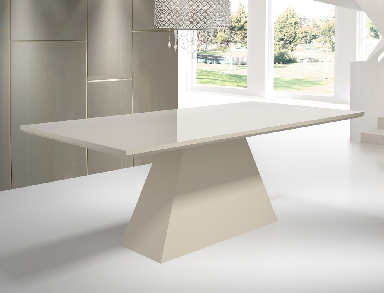 Mesa de Jantar Retangular com Vidro Tamanho ( 90cm X 200cm ) - Floripa