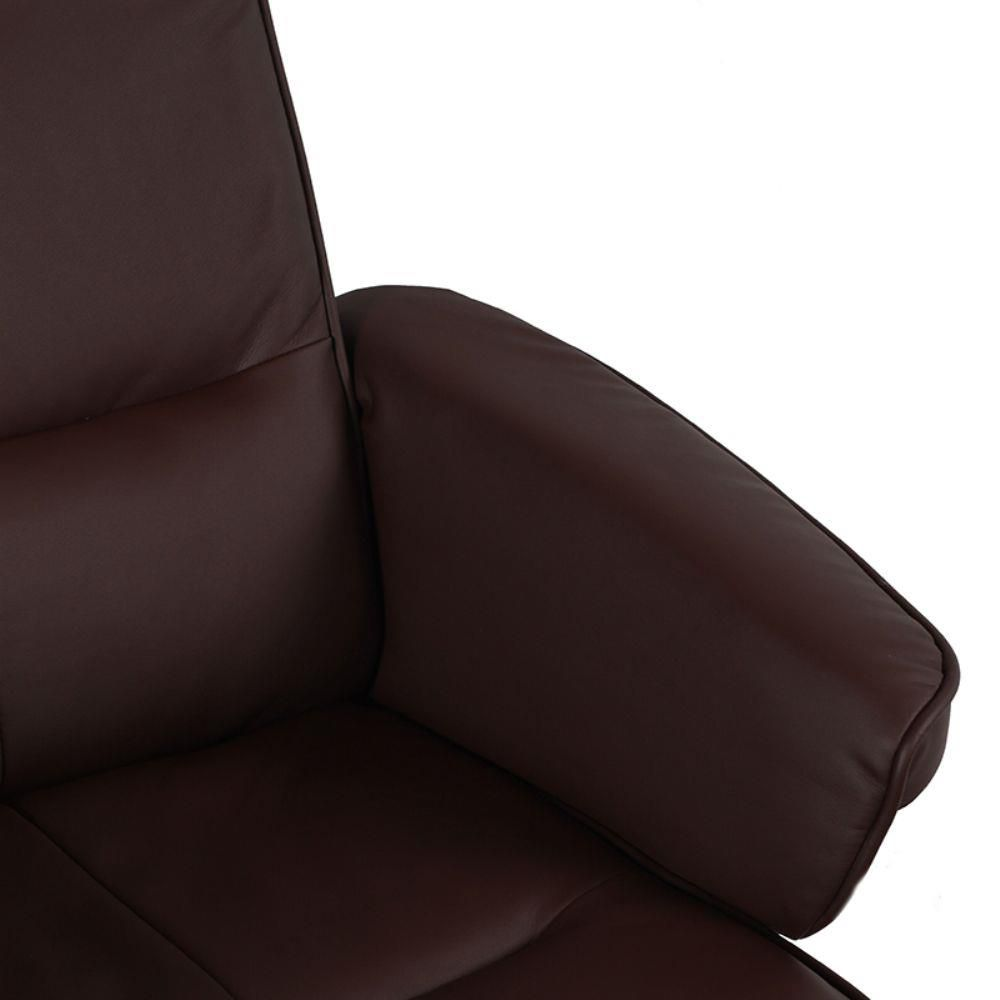 Poltrona Confort Imola em Couro Sintético - Cor Marrom Escuro