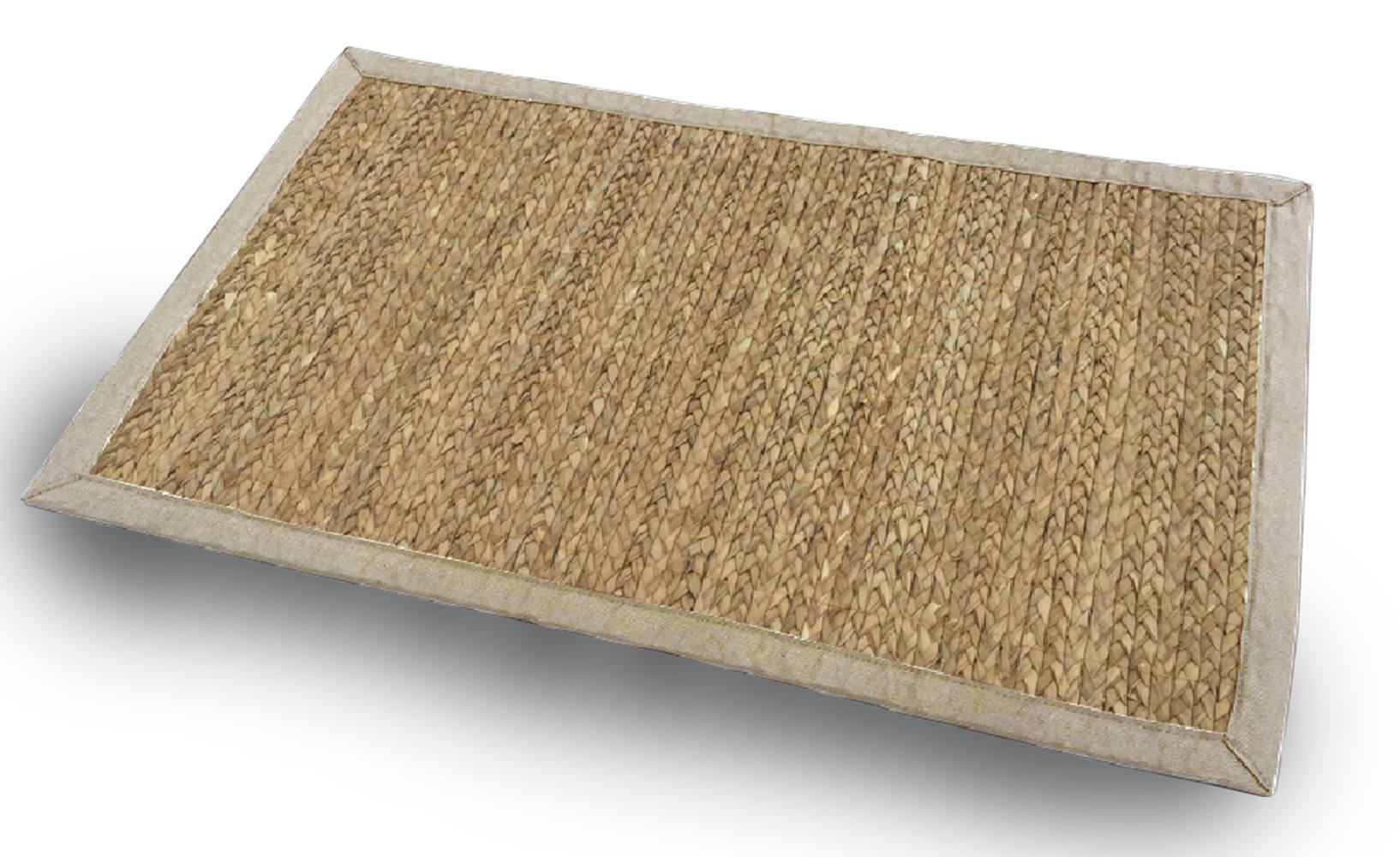 Tapete de Fibra - Tamanho 50cm x 80cm - Cor Natural