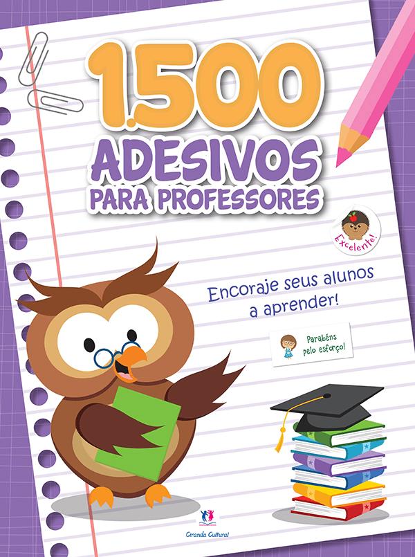 1500 Adesivos Para Professores: Encoraje Seus Alunos a Aprender - Roxo