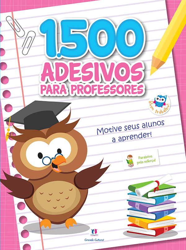 1500 Adesivos Para Professores: Motive Seus Alunos a Aprender - Rosa