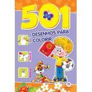 501 Desenhos Para Colorir - Roxo e Laranja