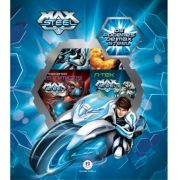 MINIBIBLIOTECA BOX MAX STEEL - 6 VOLUMES