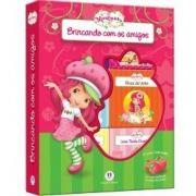 MINIBIBLIOTECA BOX MORANGUINHO BRINCANDO COM OS AMIGOS 6 VOLUMES