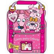 Cãezinhos Cor-de-rosa Para Colorir: Mais de 100 Adesivos - Coleção Adesivos