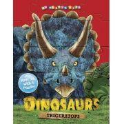 Dinossauros Tricerátopo - Livro Quebra-cabeças