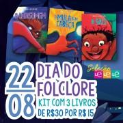KIT 03 LIVROS- FOLCLORE