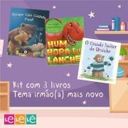 KIT 03 LIVROS- IRMÃO(A) MAIS NOVO