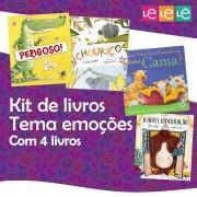 KIT 04 LIVROS- TRABALHANDO O TEMA EMOÇÕES