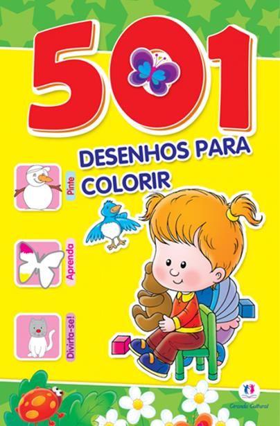 501 Desenhos Para Colorir - Amarelo e Verde
