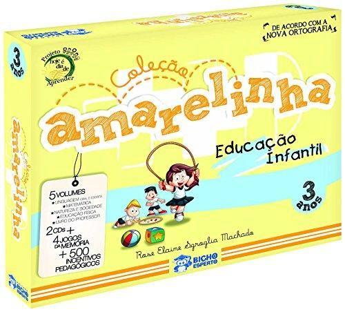AMARELINHA - COL. PEDAGOGICA 3 ANOS - 5 vol + 2 CDS + BRINDES