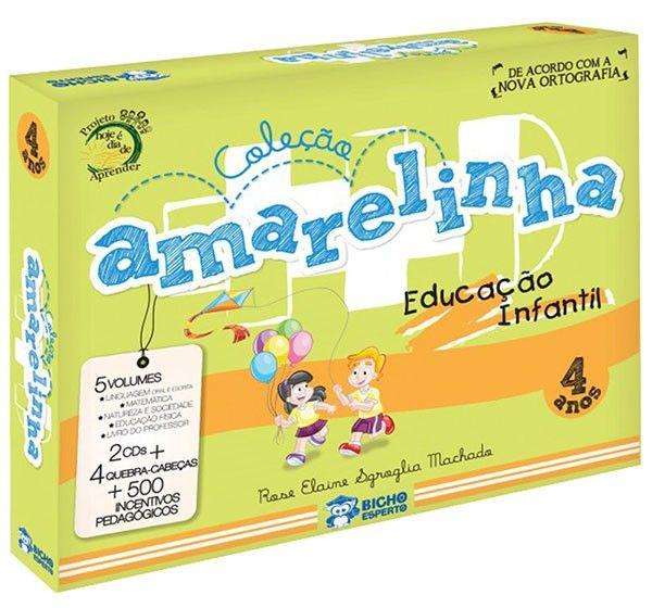 AMARELINHA - COL. PEDAGOGICA 4 ANOS - 5 vol + 2 CDS + BRINDES