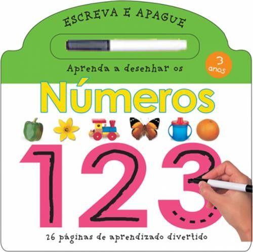 Aprenda a Escrever os Números 123 - Coleção Escreva e Apague
