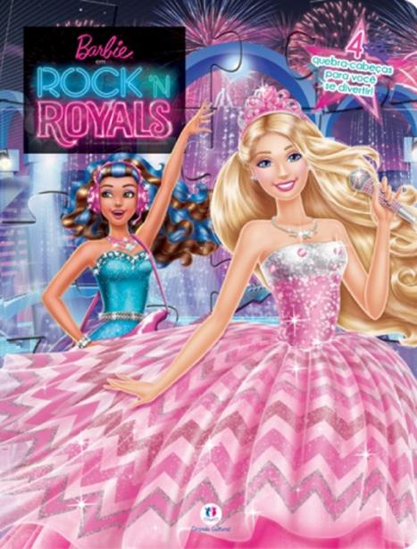 Barbie em Rock n Royals - Livro Quebra-cabeça