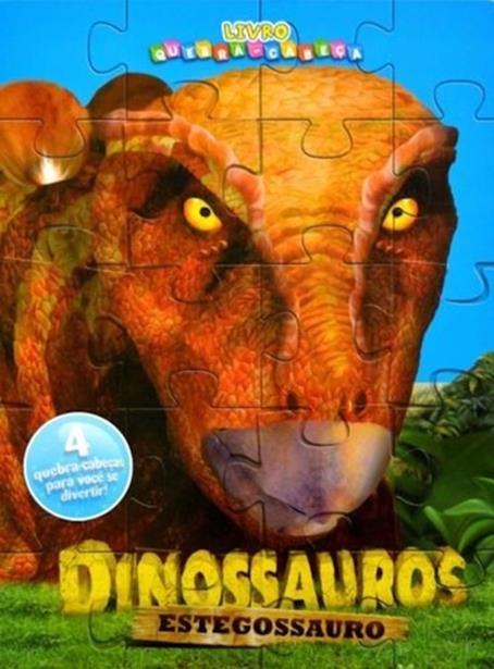 Dinossauros Estegossauro - Livro Quebra-cabeças