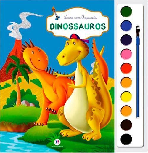 Dinossauros - Livro com Aquarela