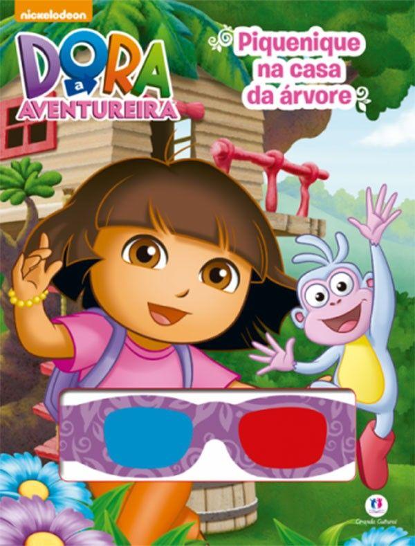 Dora a Aventureira Piquenique na Casa da Árvore - Livro 3-d