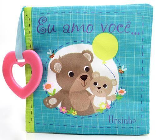 Eu Amo Você... Ursinho - Livro de Pano