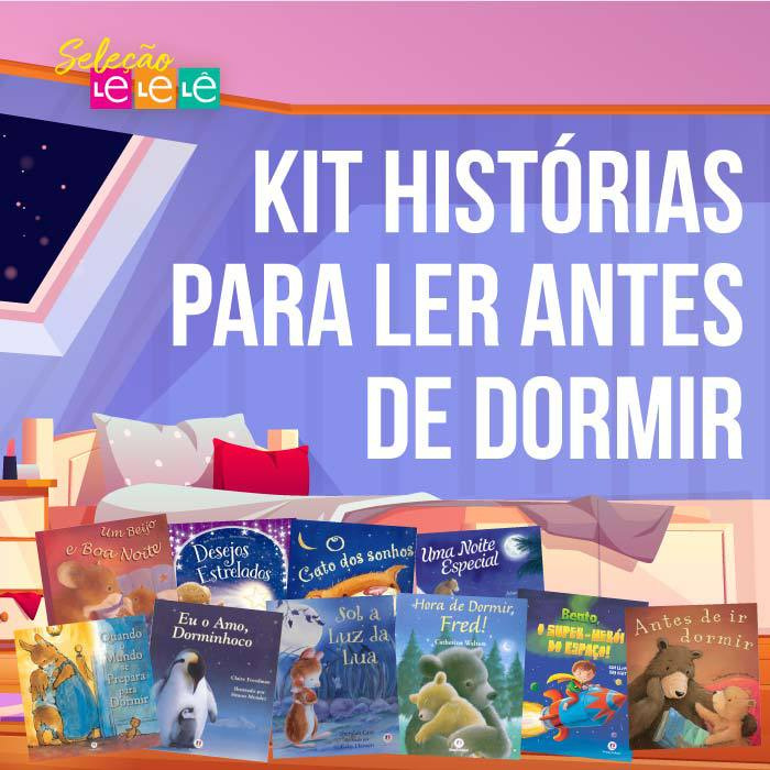 KIT 10 LIVROS- HISTÓRIAS PARA LER ANTES DE DORMIR
