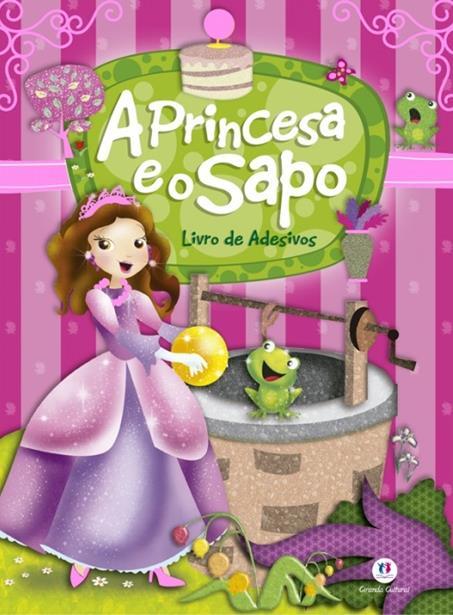 Princesa e o Sapo, A - Livro de Adesivos