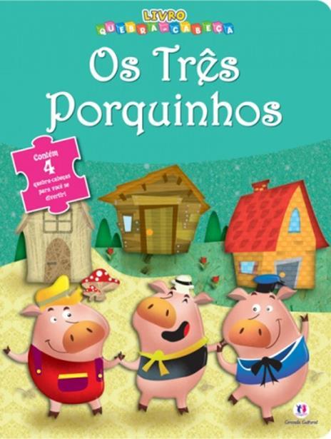 Três Porquinhos, Os - Livro Quebra-cabeça