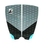 Deck Pad Antiderrapante Evos para Prancha de Surfe Dark Series Cinza e Azul Turquesa