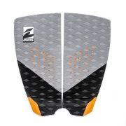 Deck Pad Antiderrapante Evos para Prancha de Surfe Dark Series Cinza e Laranja