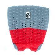 Deck Pad Antiderrapante Evos para Prancha de Surfe Solid Series Cinza e Vermelho
