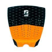 Deck Pad Antiderrapante Evos para Prancha de Surfe Solid Series Preto e Laranja