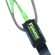 Leash Evos para Prancha de Surf Short 5 pés x 6mm Preto e Verde