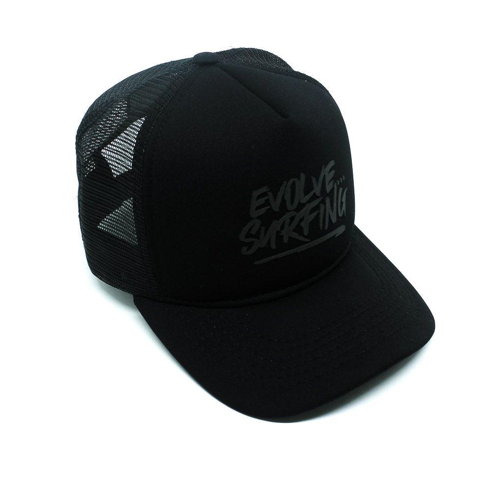 Boné Trucker EVOS Evolve Logo Preto