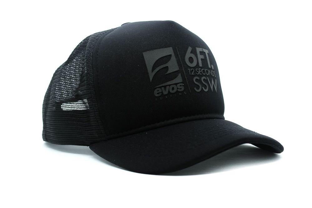 Boné Trucker EVOS Swell Logo Preto