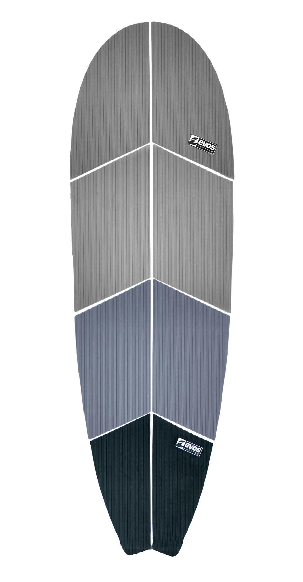 Deck Antiderrapante Evos para Prancha de Stand Up Paddle Preto e Cinza Importado
