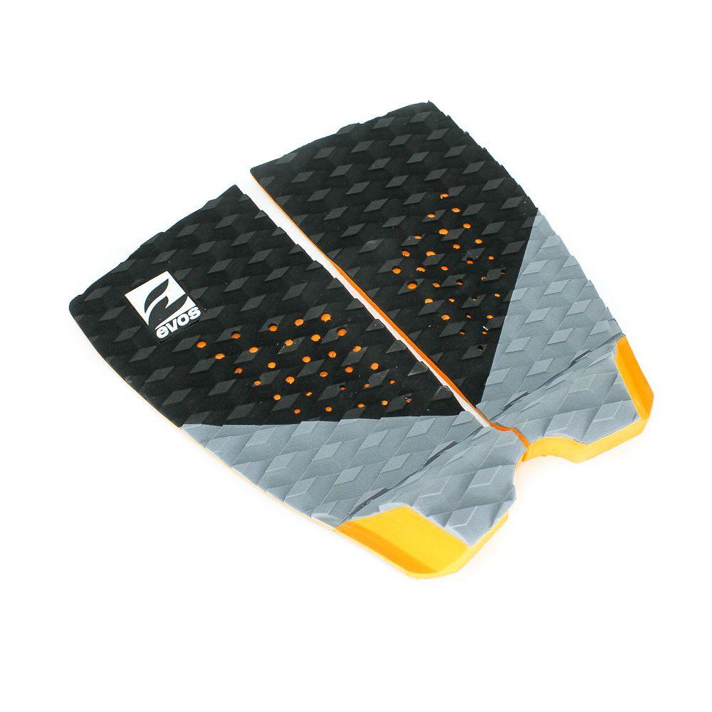 Deck Pad Antiderrapante Evos para Prancha de Surfe Dark Series Preto e Laranja