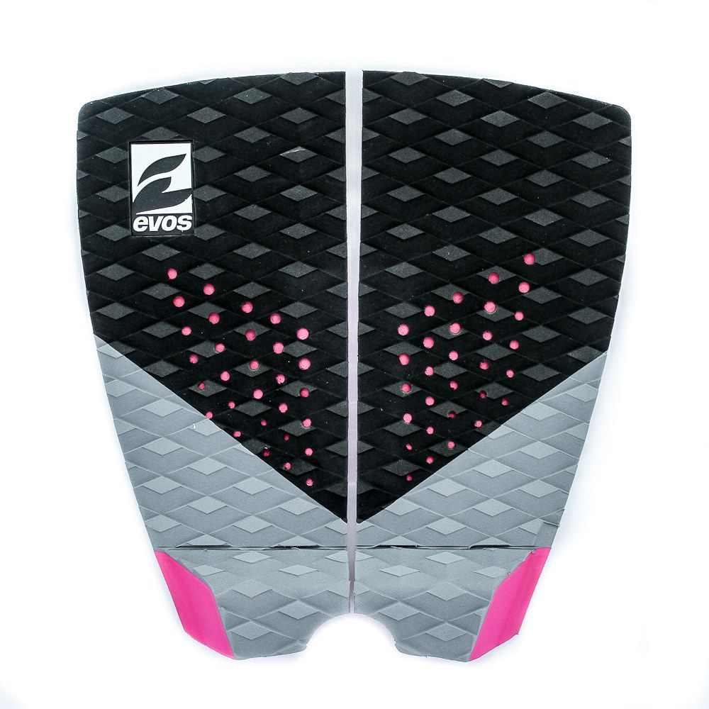 Deck Pad Antiderrapante Evos para Prancha de Surfe Dark Series Preto e Rosa