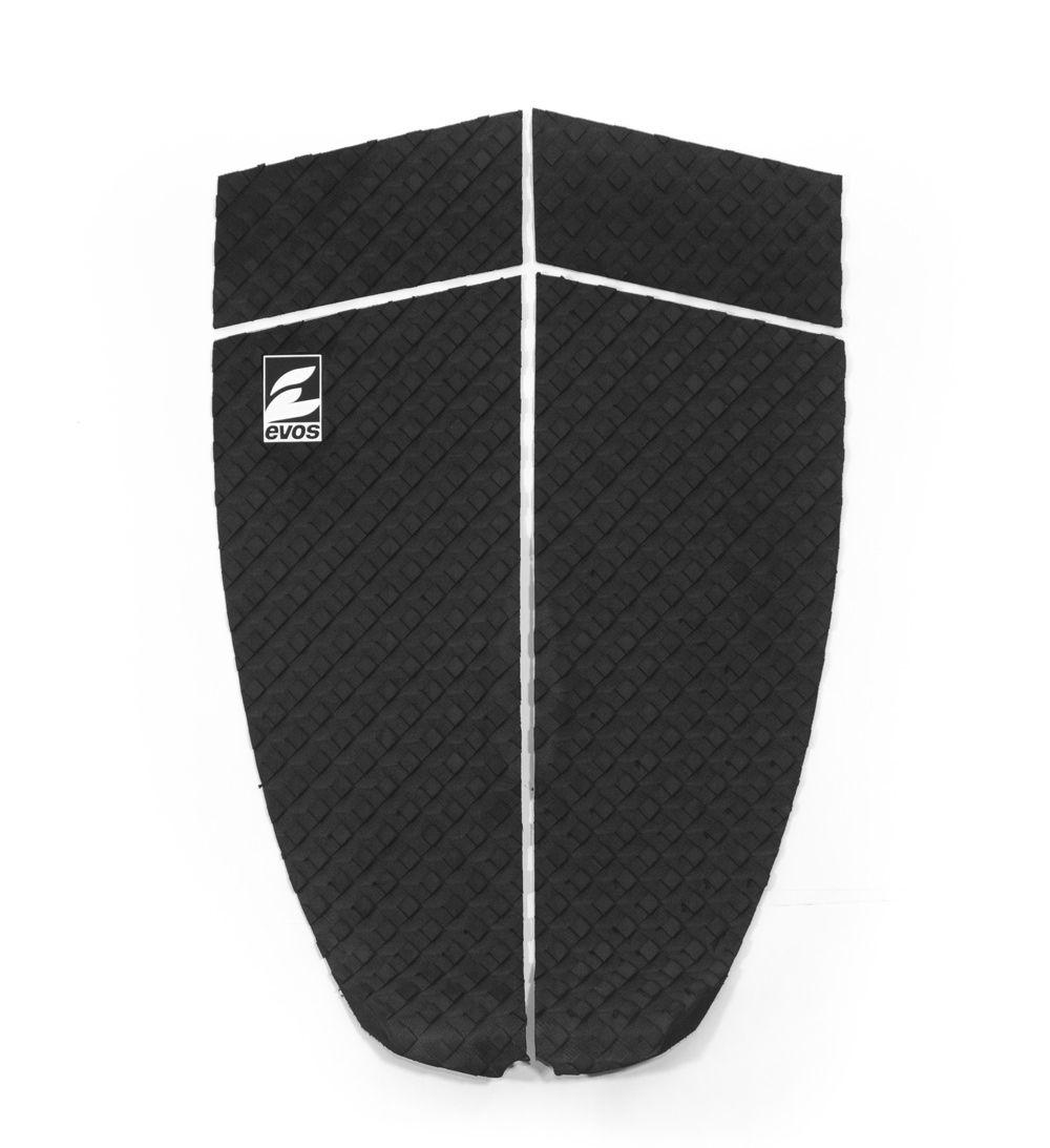 Deck Pad Antiderrapante Evos para Prancha de Surfe Longboard Preto