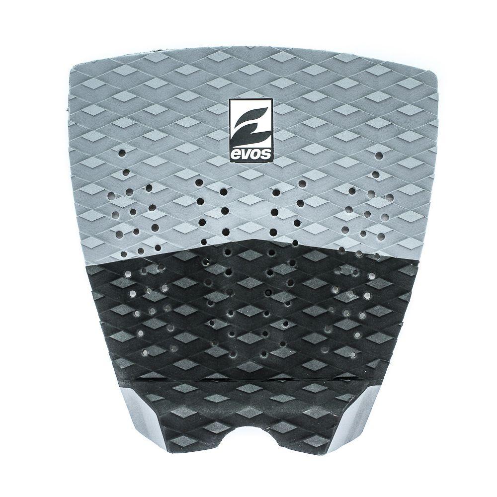 Deck Pad Antiderrapante Evos para Prancha de Surfe Solid Series Cinza e Preto