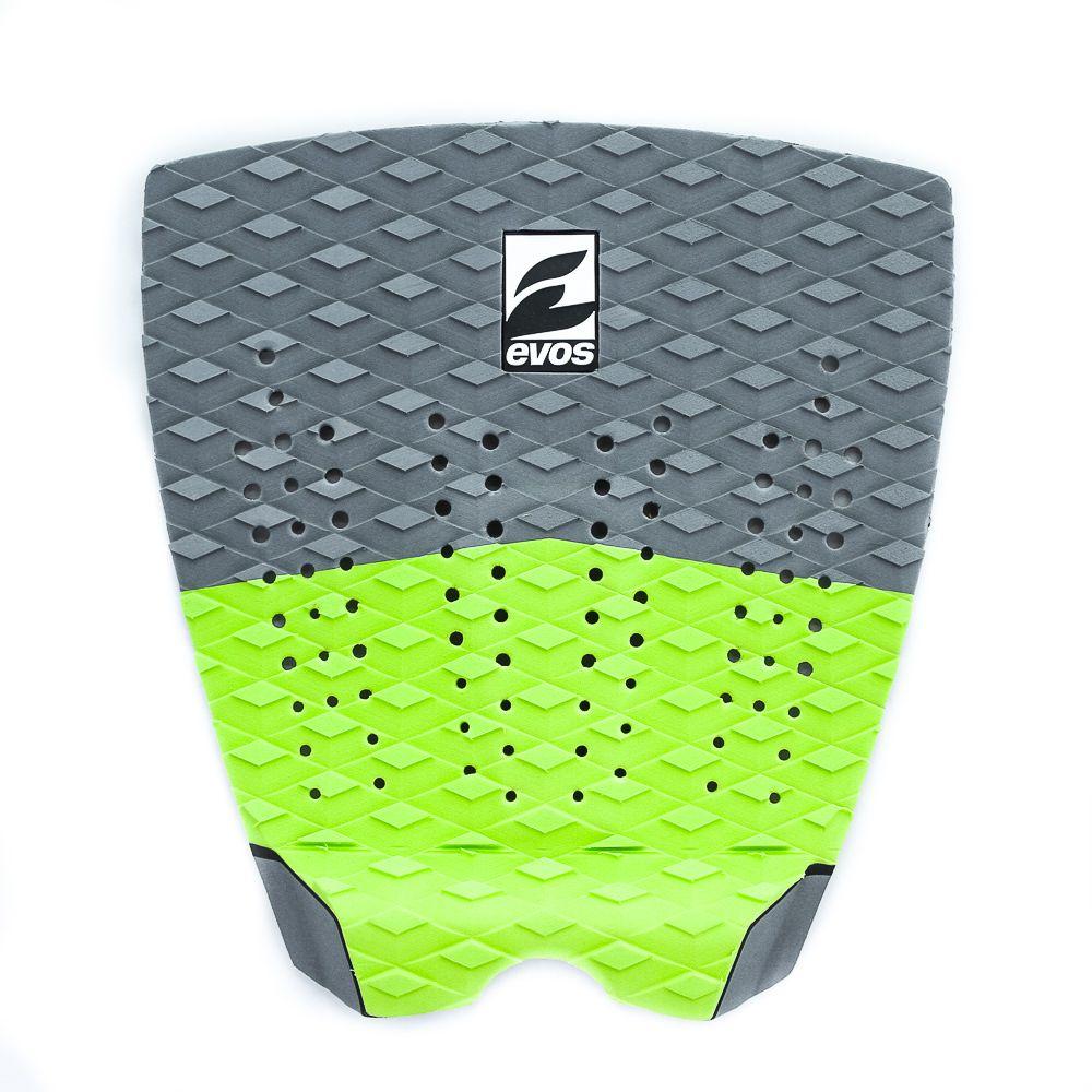 Deck Pad Antiderrapante Evos para Prancha de Surfe Solid Series Cinza e Verde