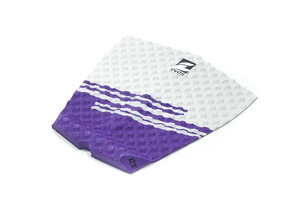 Deck Pad Antiderrapante Evos para Prancha de Surfe Stripes II Cinza Claro e Roxo