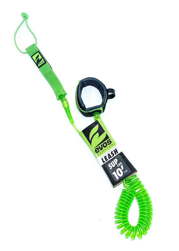 Leash Evos para Prancha de Stand Up Paddle Espiral 10 pés x 7mm Verde