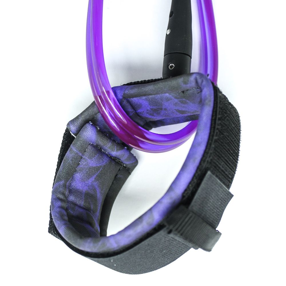 Leash Evos para Prancha de Surf Comp 6 pés  x 5mm Roxo